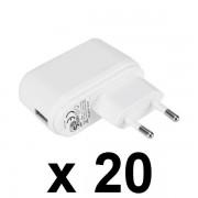 Nemko USB töltő 20 db/ csomag, 5V / 1A, fehér GDP06AV-0501000-EU