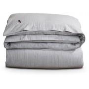 Lexington Striped Flannel Bettdecken-Bezug - light gray/white stripe - 135x200