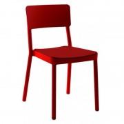 Resol - Conjunto de 4 cadeiras estofadas vermelhas LISBOA - RESOL