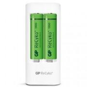Gp Batteries Caricabatterie 2 AA/AAA con 4 batterie AA 1300mAh USB bianco