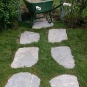 Японски градински стъпки от опесъчен шистов камък Кавала