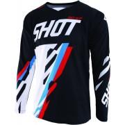 Shot Contact Score Camiseta de Motocross Negro Rojo Azul S