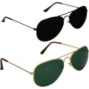 SPY RAYS COLLECTION Aviator, Aviator Sunglasses(Green, Black)