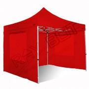 ray bot Gazebo pieghevole 4x8 rosso Exa 55mm alluminio con finestre PVC 350g