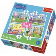 Puzzle Peppa Pig 4 in 1 - 35 48 54 si 70 piese