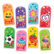 Baker Ross Mixed Novelty Mini Pinball Games - 8 Small Handheld Pinball Games In Assorted Colours. Mixed Pinball Games. Size 12cm.