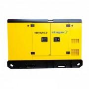 Generator insonorizat Stager YDY12S3, silent 1500rpm, diesel, trifazat