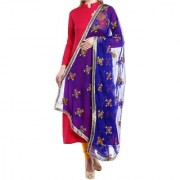 Soft Chiffon Phulkari Duaptta Wedding Fastival Party wear Dupatta