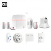 Vcare - Système de sécurité pour maison - iOS et Android / Max 100 utilisateurs / Caméra IP / Capteur de porte et de fenêtre / PIR