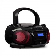 Auna Roadie DAB Reproductor de CD DAB/DAB+ FM led luces disco Bluetooth negro (MG3-Roadie DAB BK)