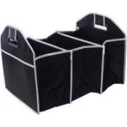 MERIOX Car Boot Storage Organizer Heavy Duty Collapsible Boot Organizer Multipurpose SUV Trunk Car Storage Box (Black)(Black)