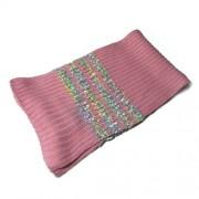 Bufanda rosa de punto en relieve