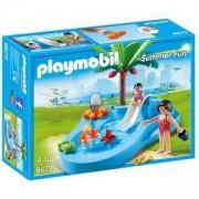 Комплект Плеймобил 6673 - Бебешки басейн с пързалка - Playmobil, 291216
