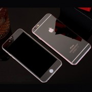 Folie Sticla iPhone 6S Plus iPhone 6 Plus Set 2 Buc Fata si Spate Mirror Neagra Protectie Antisoc Tempered Glass