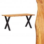 Masă de bucătărie, 160 x 80 x 75 cm, lemn masiv de stejar