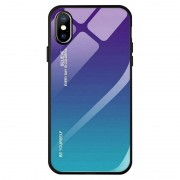 Powerbasics Iphone XS Max Premium Protection Iridiscent Blue Capa