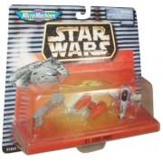 Star Wars Year 1997 Micro Machines Collection 6 Micro Vehicles - Escort Frigate, Bespin Twin Pod Clo