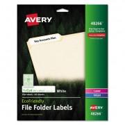 Ecofriendly File Folder Labels, 2/3 X 3 7/16, White, 750/pack