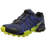 Salomon Men s Speedcross 4 GTX Trail Running Shoes Slate Blue / Blue Depth / Corona Yellow 13 D(M) US