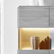 ROUND Glasrückwand beleuchtet 50 cm für Highboard