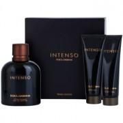 Dolce & Gabbana Pour Homme Intenso set cadou IV. Eau de Parfum 125 ml + After Shave Balsam 50 ml + Gel de dus 50 ml