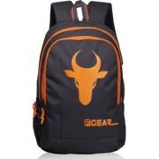 F Gear Castle Rugged Base 24 Liters Bull Backpack (Grey Orange)