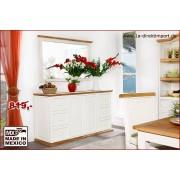 1a Direktimport Sideboard Kommode MEXICO, Pinie weiß / honig, Landhausstil Möbel, shabby