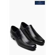 Mens Next Black Textured Panel Slip-On - Black