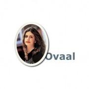 Grafmonument portretfoto op keramiek: Ovaal — 4x5cm / Behouden / Witte boord