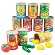 Alphabet Soup Sorters, 26 Cardboard cans w/Lids, 130 Photo Cards, 52 Letters