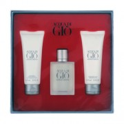 Acqua di Gio uomo – Giorgio Armani gift set profumo 100 ml EDT SPRAY + after shave balm 75 ml + shower gel 75 ml