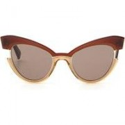 INGRID Occhiali da sole cat-eye MARRONE