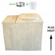 Toilette Sèche - La Cube Bac complète - rehaussé