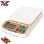 Virgo Stealodeal SF-400A Digital Kitchen Electronic With Inbuilt Batteries Weighing Scale(White)
