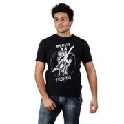 Numero Uno Black Printed Round Neck T-shirts