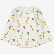 Polarn O. Pyret Tröja med små giraffer baby gråmelange 68