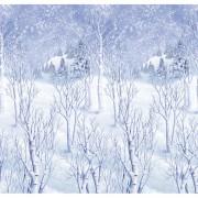Banner perete peisaj de iarna