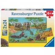 Пъзел 2 в 1 Савана - In the Wild - Ravensburger, 707708
