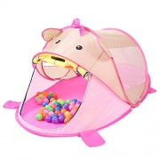 Generic Lovely Pink Bear Pop Up Kids Home/Beach/Garden/Camping/Nursery Play Tent Toy