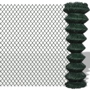vidaXL Chain Fence 1.5 x 25 m Green