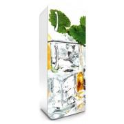 Jégkocka, hűtőszekrény matrica, 180 cm