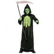 Disfraz segador esqueleto verde niño Halloween 5-7 años (128 cm)