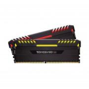 Memorias Ram DDR4 Corsair Vengeance LED RGB 3200MHz 16GB Kit 2x8 (CMR16GX4M2C3200C16)-Negra