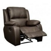Lyla Single Recliner Brown Leather Uppers/ PU