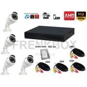 Kit videosorveglianza AHD DVR P2P 4 ch 160Gb Cloud Telecamere 1.3Mpx 1500tvl