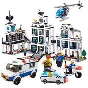 Brictek Police Station Headquarters Building Block Set Over 1200 Pieces
