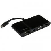 Adaptador multipuertos USB-C p/ portátiles HDMI VGA 4K