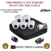 Dahua 1 MP Dahua HDCVI 8CH DVR + Bullet Camera 1Pcs and Dome Camera 5Pcs ComboHDCVI 8CH DVR + Bullet Camera 1Pcs and Dome Camera 5Pcs Combo