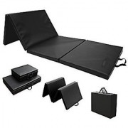 M.K.International TRI FOLD Leather Fitness MAT 12 MM for Yoga Meditation and Outdoor Indoor Activity.
