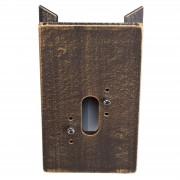 Corner block for outdoor wall lights, brown-brass